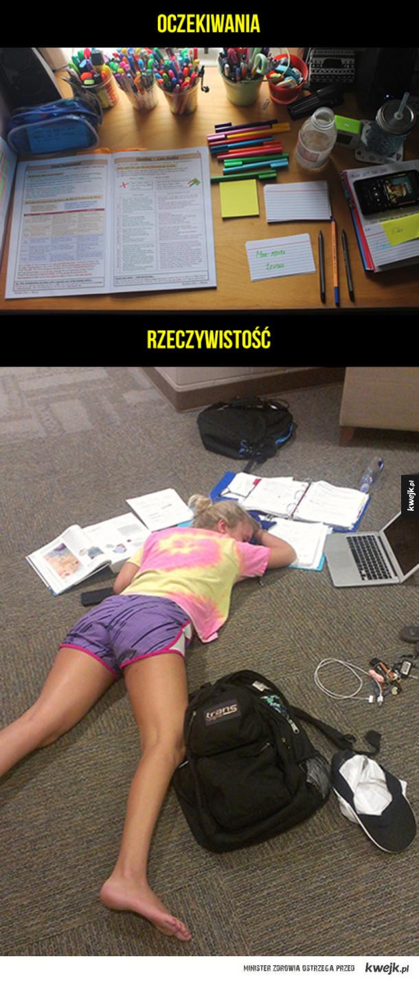 Egzaminy tak wyglądają