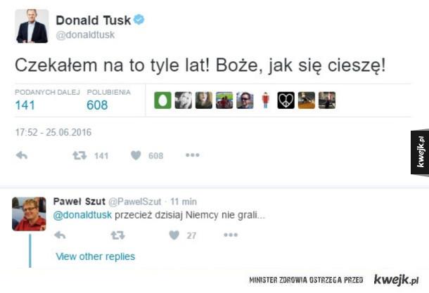Donald kibicuje