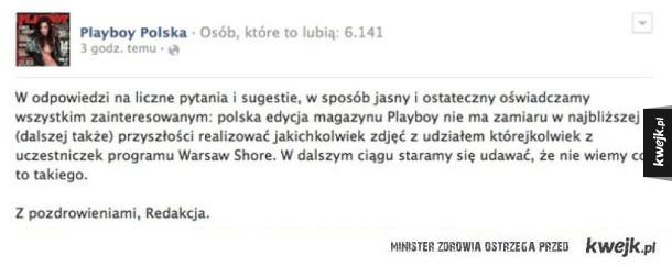 Warsaw shore w playboy