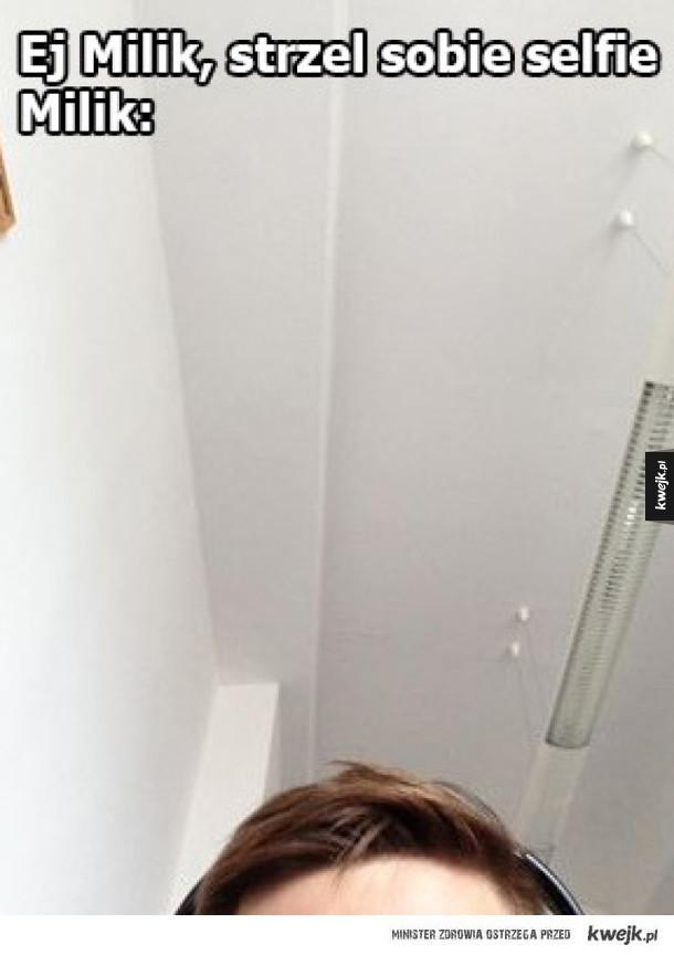 Selfie według Milika