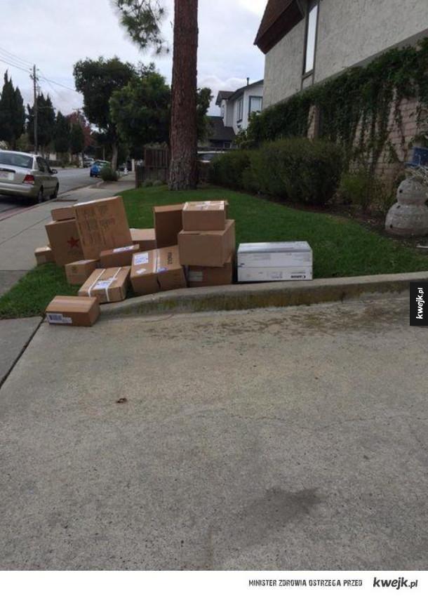 Niezbyt dobrze dostarczone przesyłki