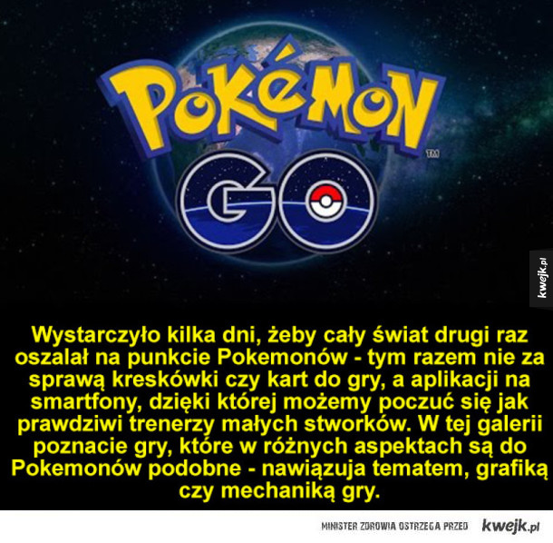Gry podobne do Pokemon