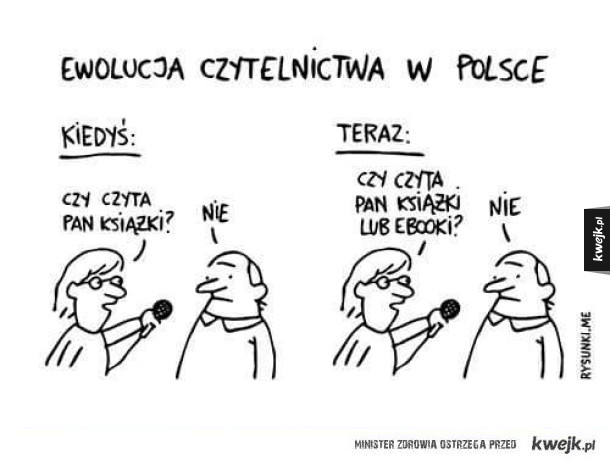 Ewolucja czytelnictwa w Polsce