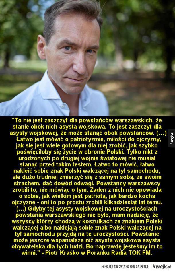 Piotr Kraśko o zamieszaniu wokół obchodów rocznicy Powstania Warszawskiego