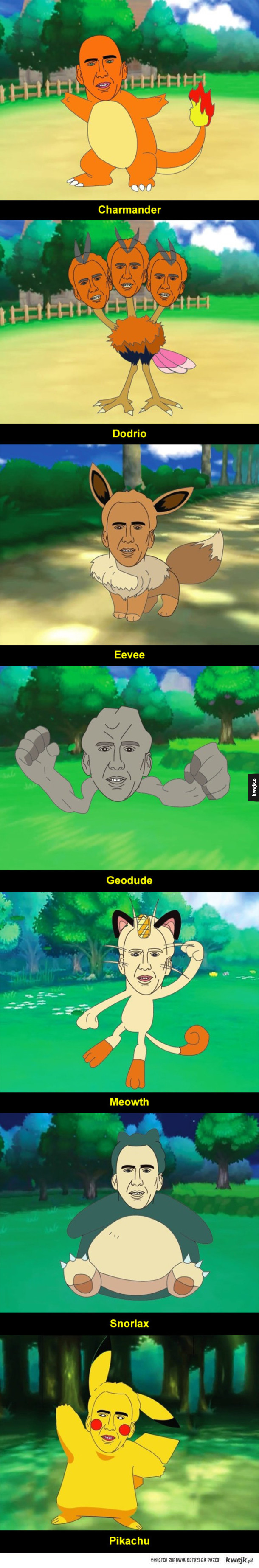Nicolas Cage jako Pokemony, bo czemu nie