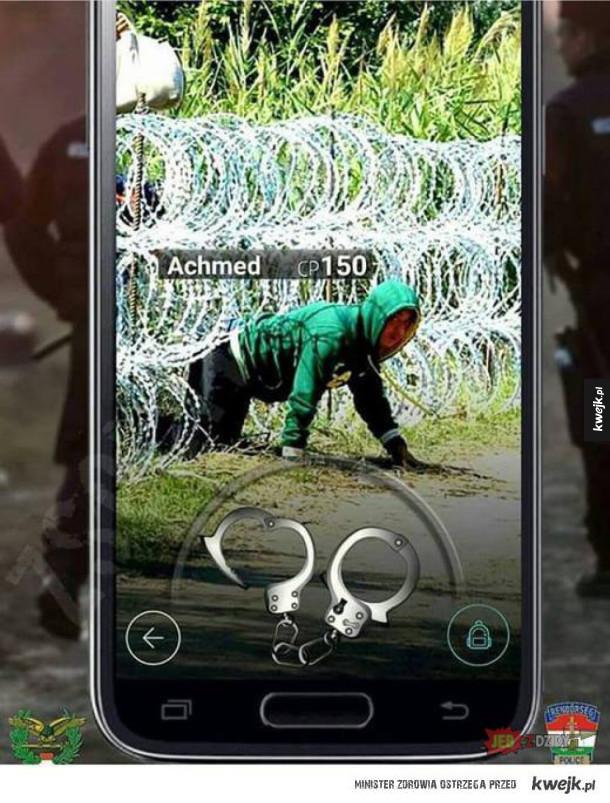 łapanie pokemonów na węgierskiej granicy