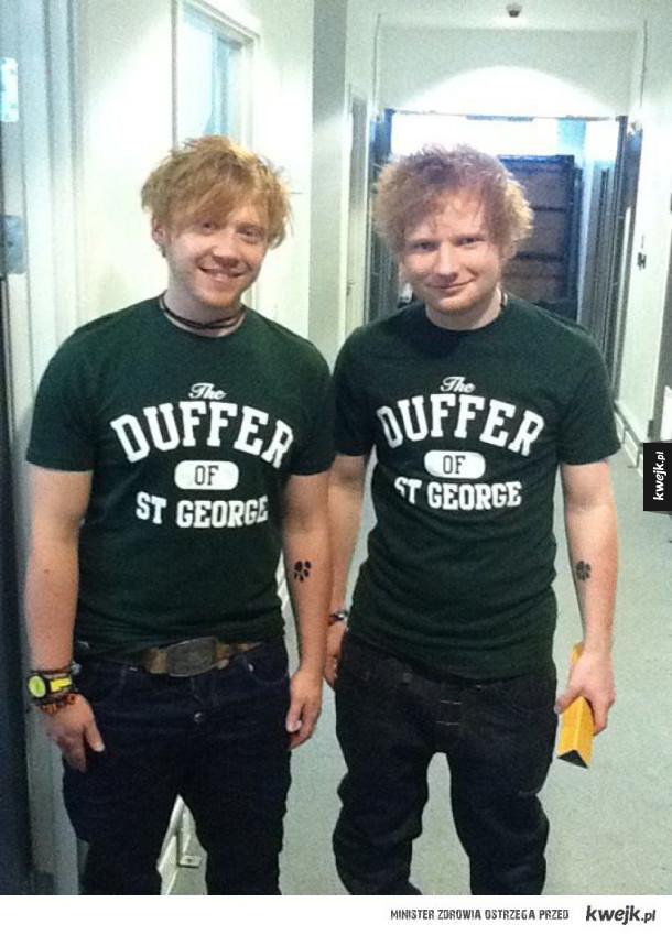 Rupert Grint i Ed Sheeran