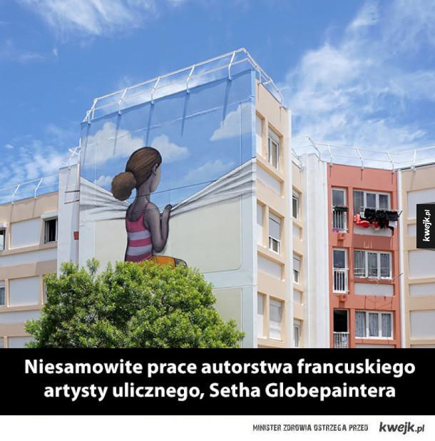 Niesamowite prace autorstwa francuskiego artysty ulicznego, Setha Globepaintera