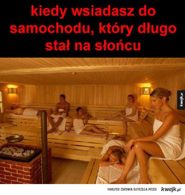 sauna car