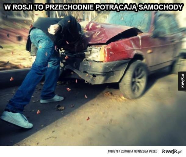 Potrącenie samochodu