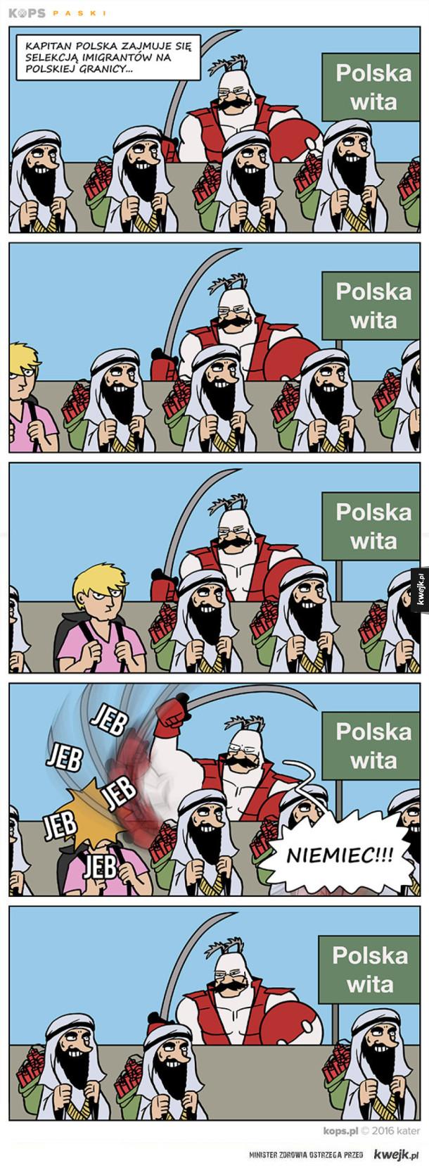 Kapitan Polska vs Imigranci