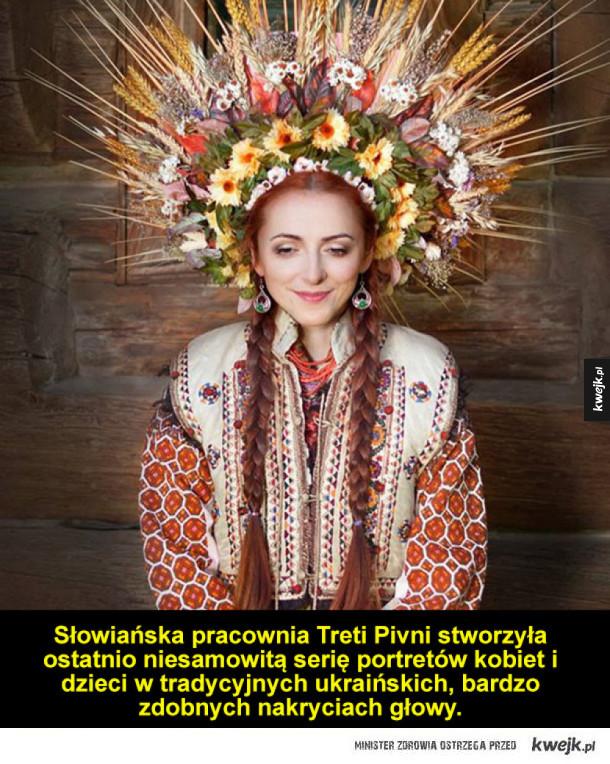 Portrety kobiet w tradycyjnych ukraińskich nakryciach głowy