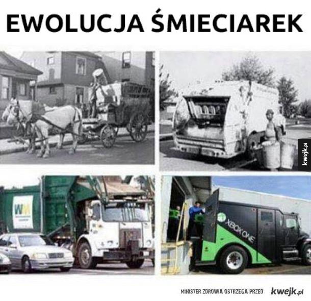 Ewolucja śmieciarek