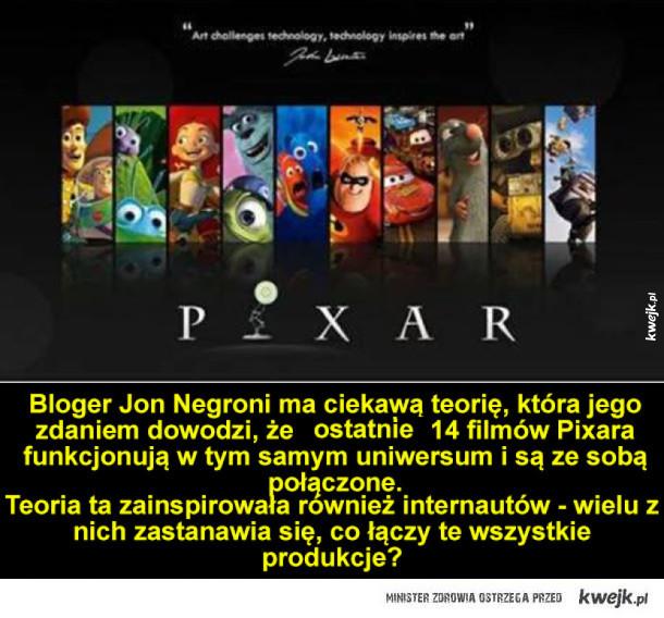 Ciekawa teoria na temat filmów Pixara