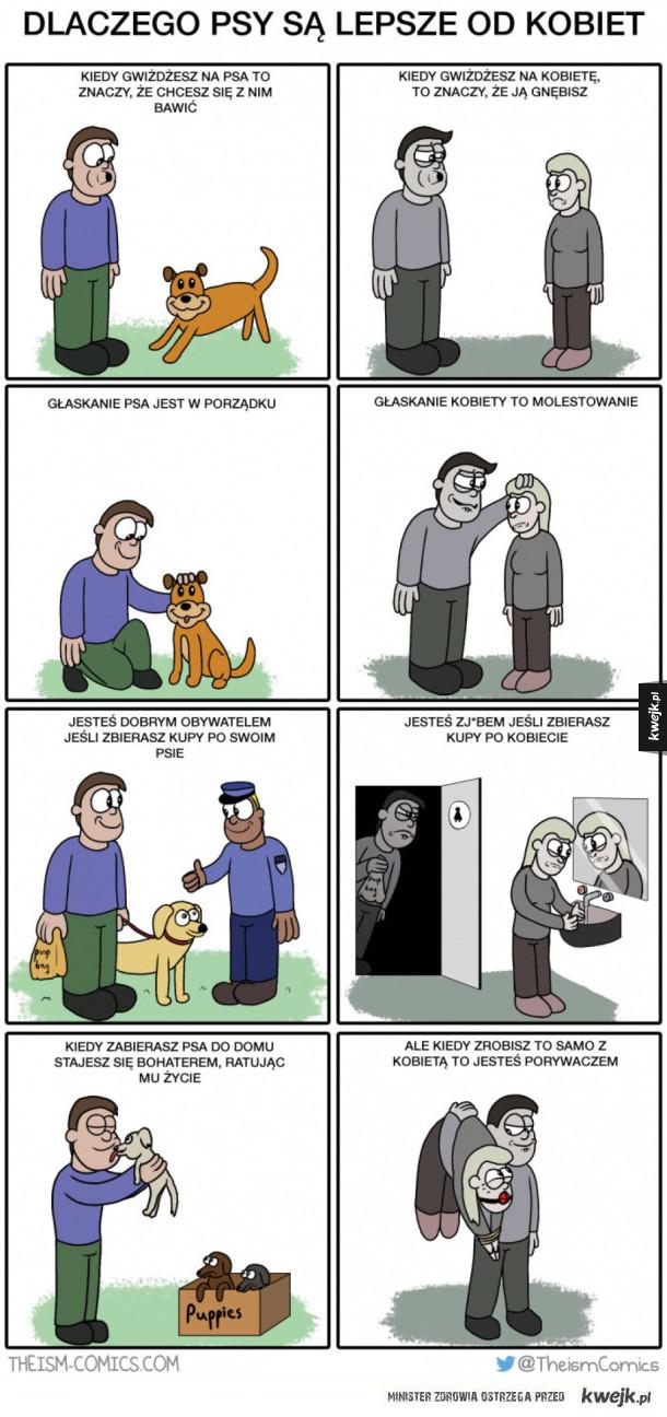 Dlaczego psy są lepsze od kobiet