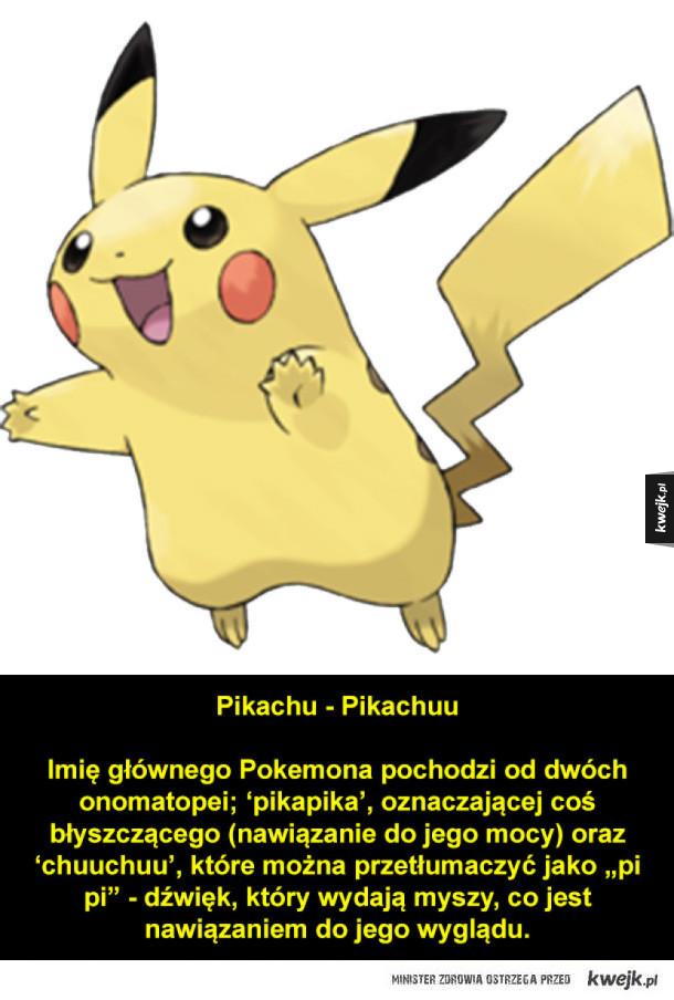 Japońskie nazwy Pokemonów i ich znaczenie