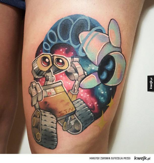 Tatuaże inspirowane filmami Pixara