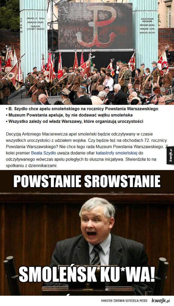 Apel smoleński na obchodach Powstania Warszawskiego?