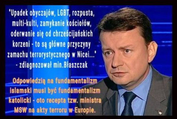 Zapomniał wspomnieć, że to wszystko, wina Tuska!