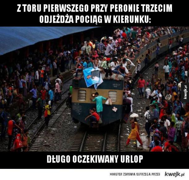 Kiedy chcesz pociągiem pojechać na wakacje