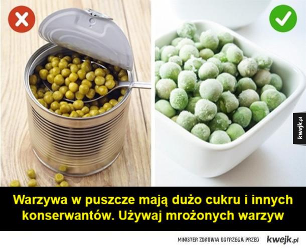 Proste i skuteczne triki, które pomogą ci łatwo pozbyć się nadprogramowych kilogramów - Warzywa w puszcze mają dużo cukru i innych konserwantów. Używaj mrożonych warzyw