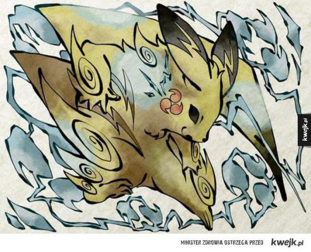 Pokemony w tradycyjnym japońskim stylu