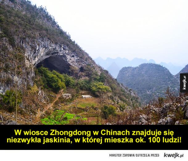 Chińska wioska w jaskini