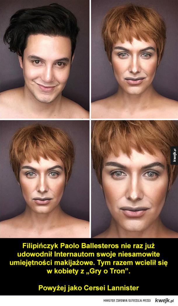Niesamowite transformacje chłopaka w  kobiety z Gry o Tron