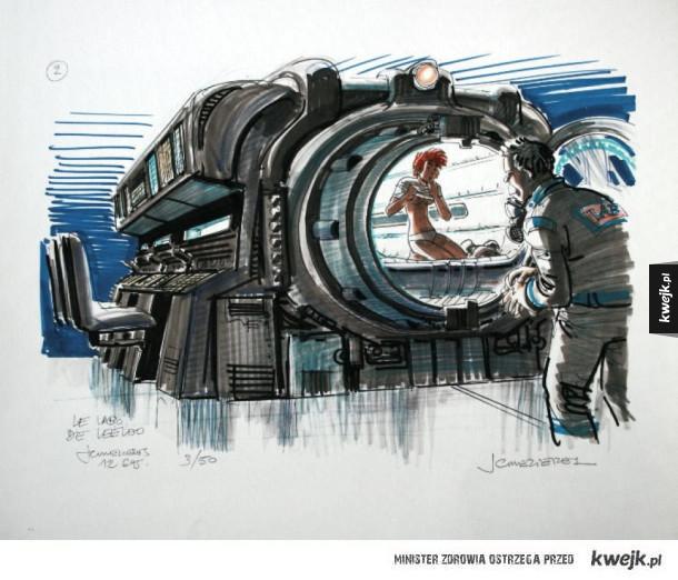 Grafiki koncepcyjne do filmu Piąty element