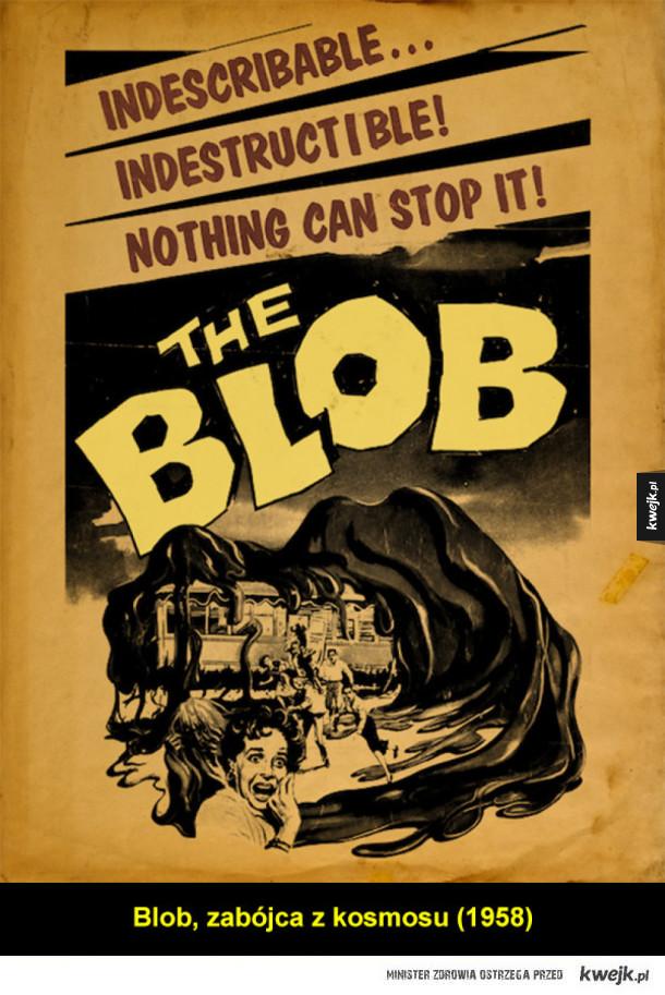 Stara szkoła plakatu retro horrorów