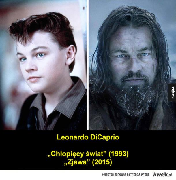 Znani aktorzy we wczesnych i nowszych rolach