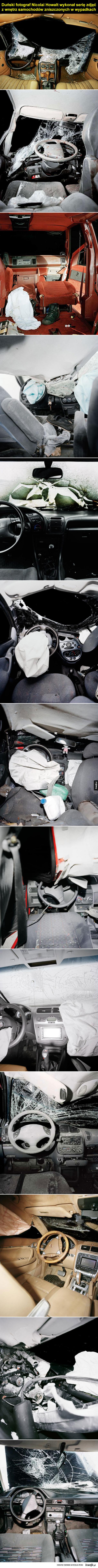 Niepokojące zdjęcia Samochodów po wypadkach