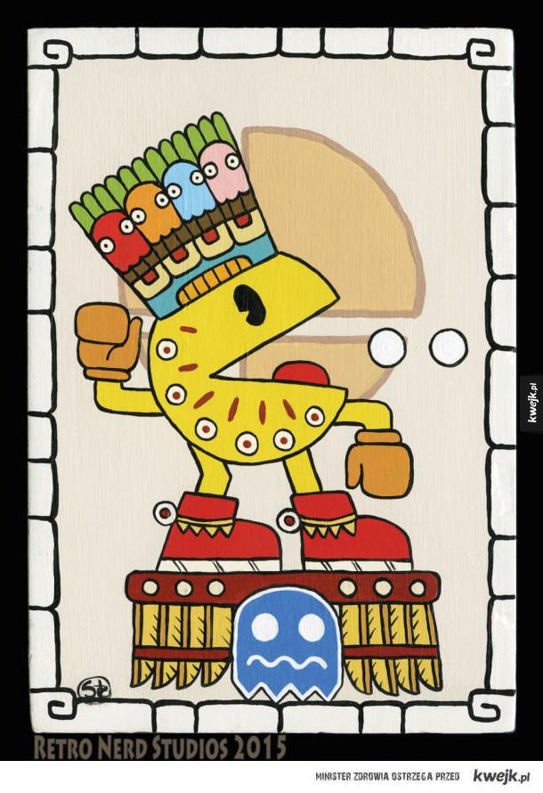 Prekolumbijscy bogowie gier autorstwa Sity Navas