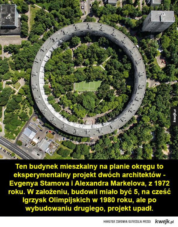 Rosyjska architektura, która wygląda dobrze tylko z góry