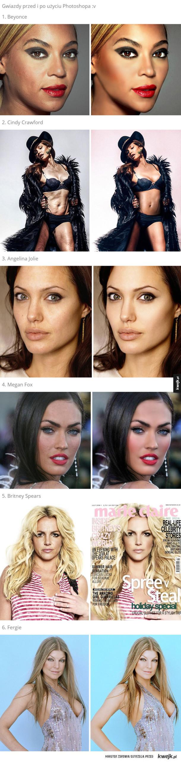 Przed i po photoshopie