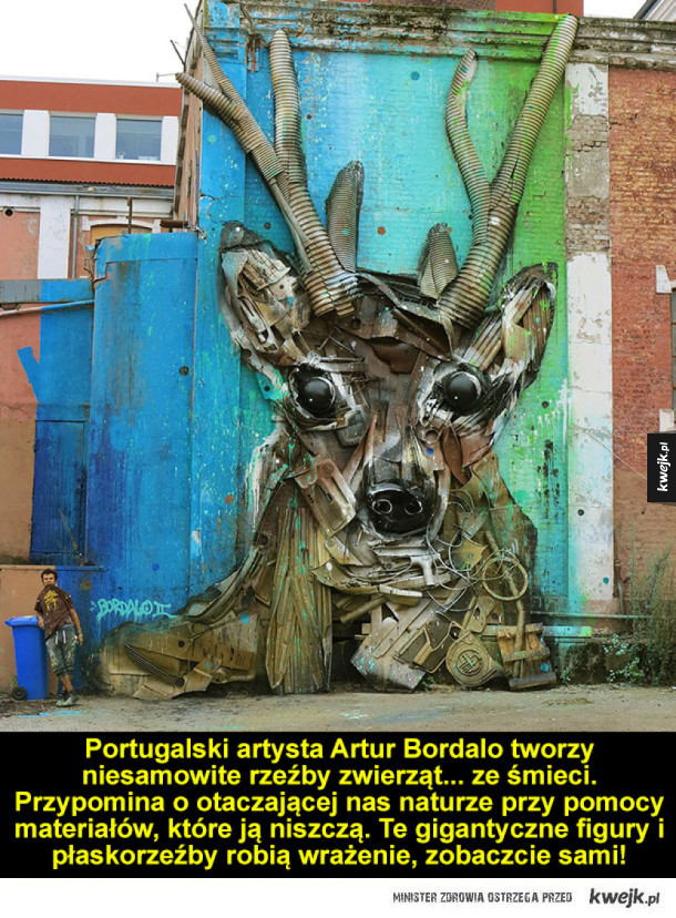 Artysta robi rzeźby zwierząt ze śmieci - a to tylko wzmacnia przekaz!