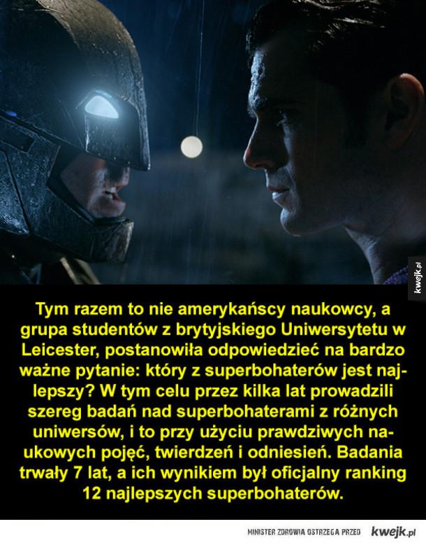 Superbohaterowie na naukowo