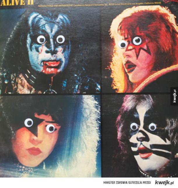 Okładki klasycznych albumów z googly eyes