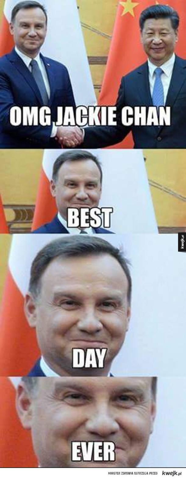 Andrzej Duda i Steven Seagal