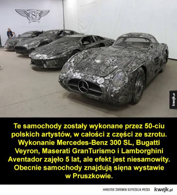 Piękne samochody ze złomu