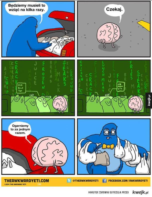 dzięki mózgu