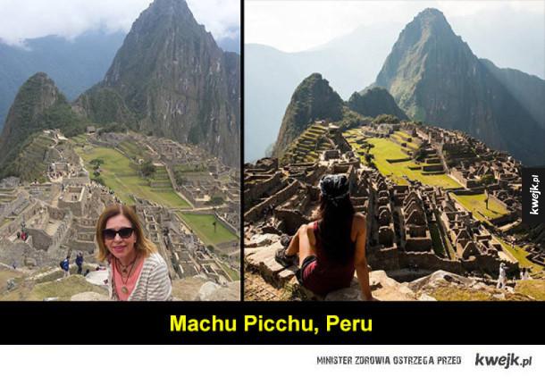 Zdjęcia tych samych miejsc w wykonaniu amatorów i profesjonalistów