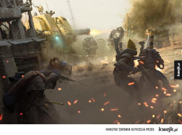 Niesamowite grafiki przedstawiające świat Warhammera 40.000