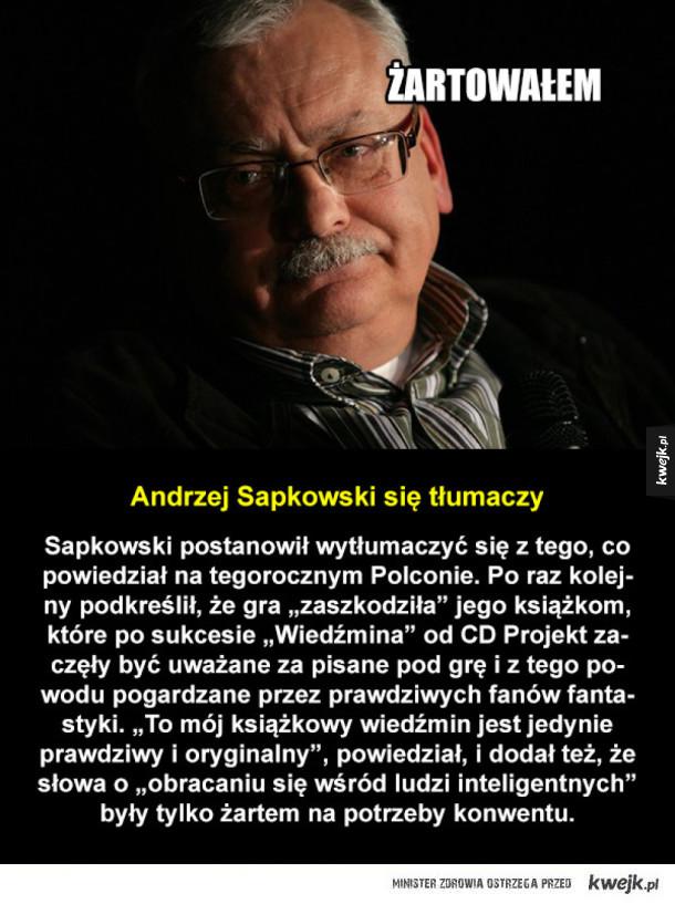 Sapkowski znowu o Wiedźminie