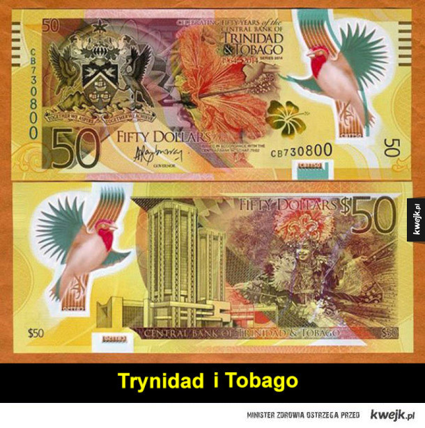 Najciekawsze plastikowe banknoty