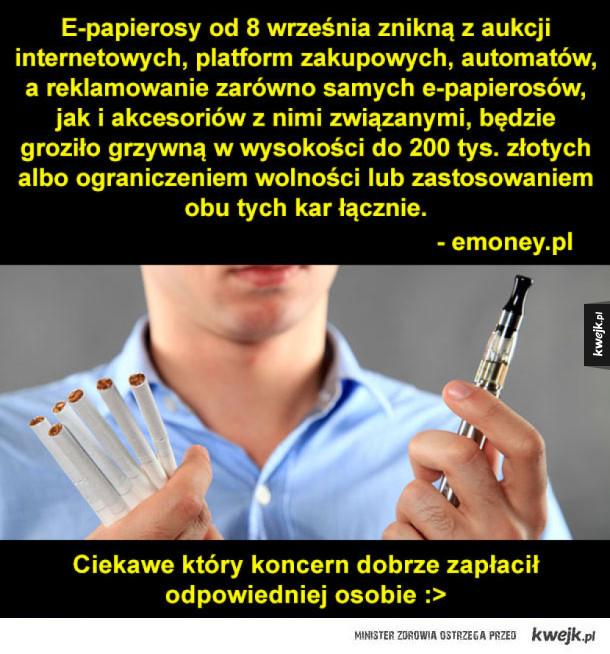 e-papierosy znikają!