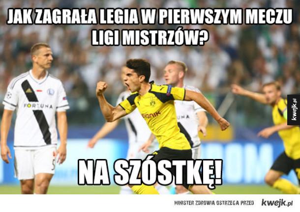 Reakcje internautów po meczu Legia Warszawa - Borussia Dortmund