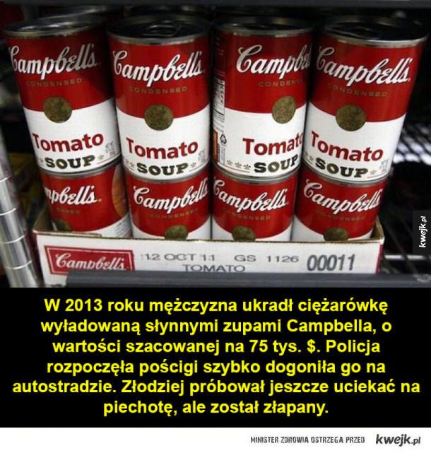 Zuchwałe kradzieże jedzenia