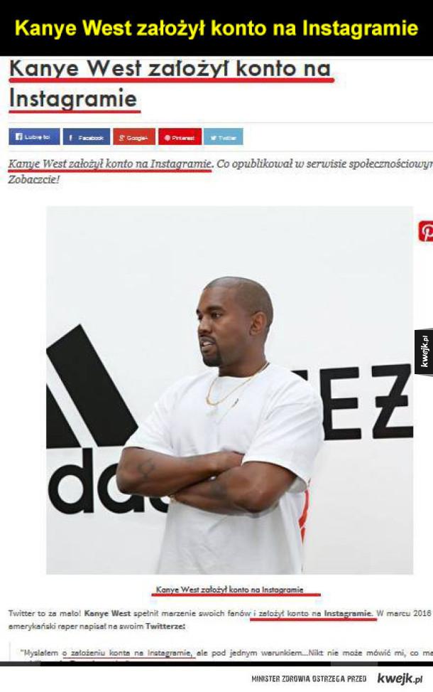Kanye West założył konto na Instagramie