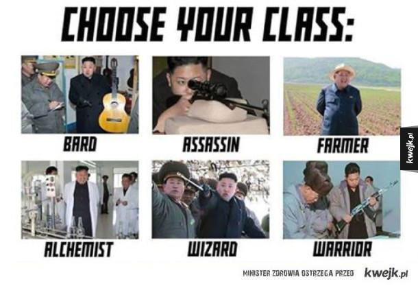 Wybierz klasę postaci!